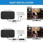 Antena de TV interior Digital HDTV 4k 1080p ATSC Estándar 20-50 millas con amplificador USB 21 * 12cm