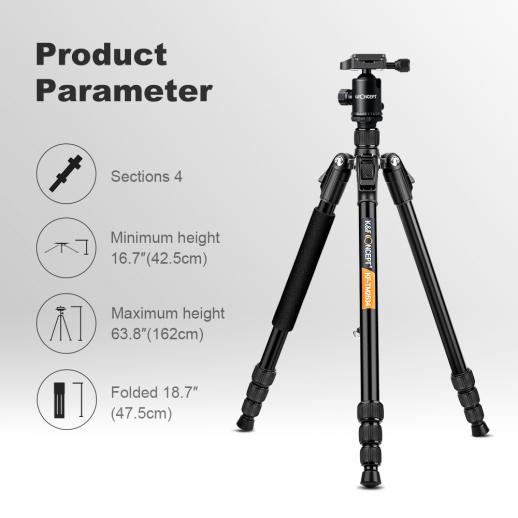 El kit del monópopo del trípode de la cámara de TM2534 DSLR cabe Canon, Nikon