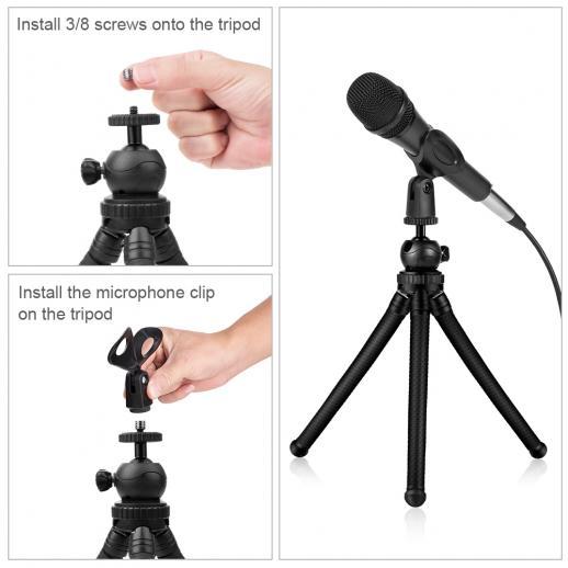 Trípode para iPhone, GoPro y micrófono con control Bluetooth
